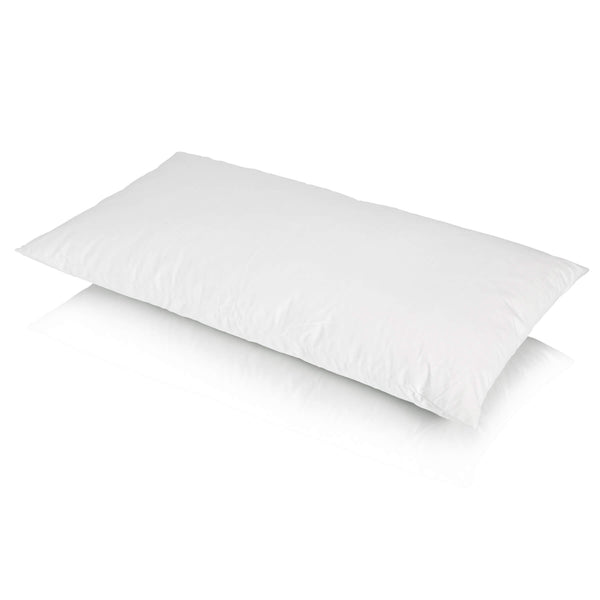 Traditional Duck Feather Bolster Pillow and Housewife Pillowcase