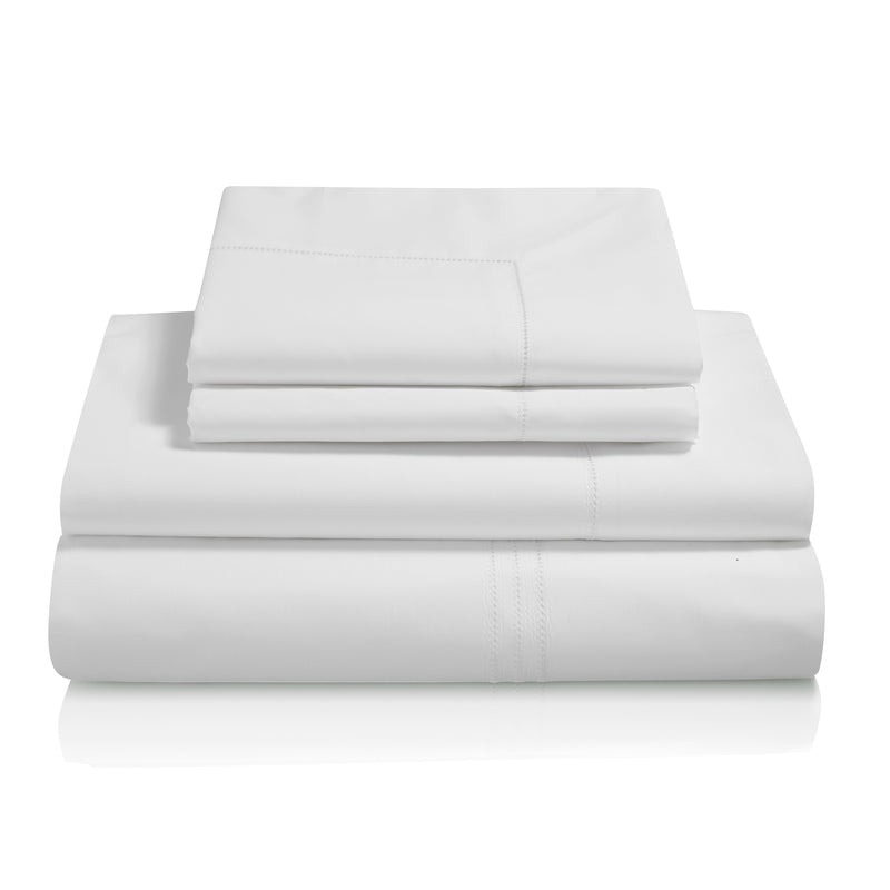 Graziano Hem Stitch Egyptian Cotton Bed Linen Collection White