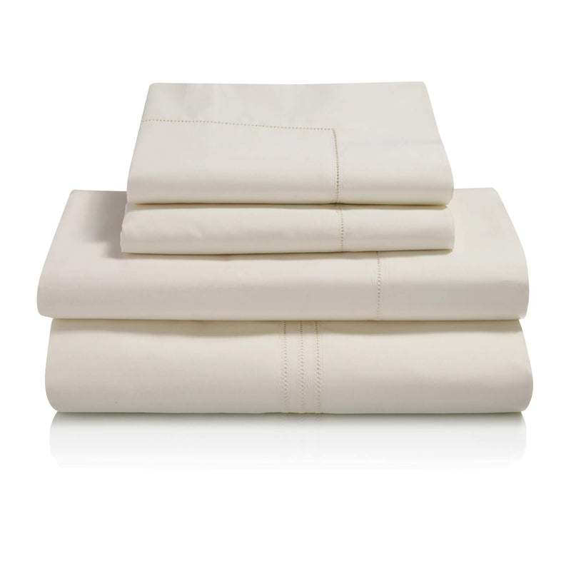 Graziano Hem Stitch Egyptian Cotton Bed Linen Collection Cream