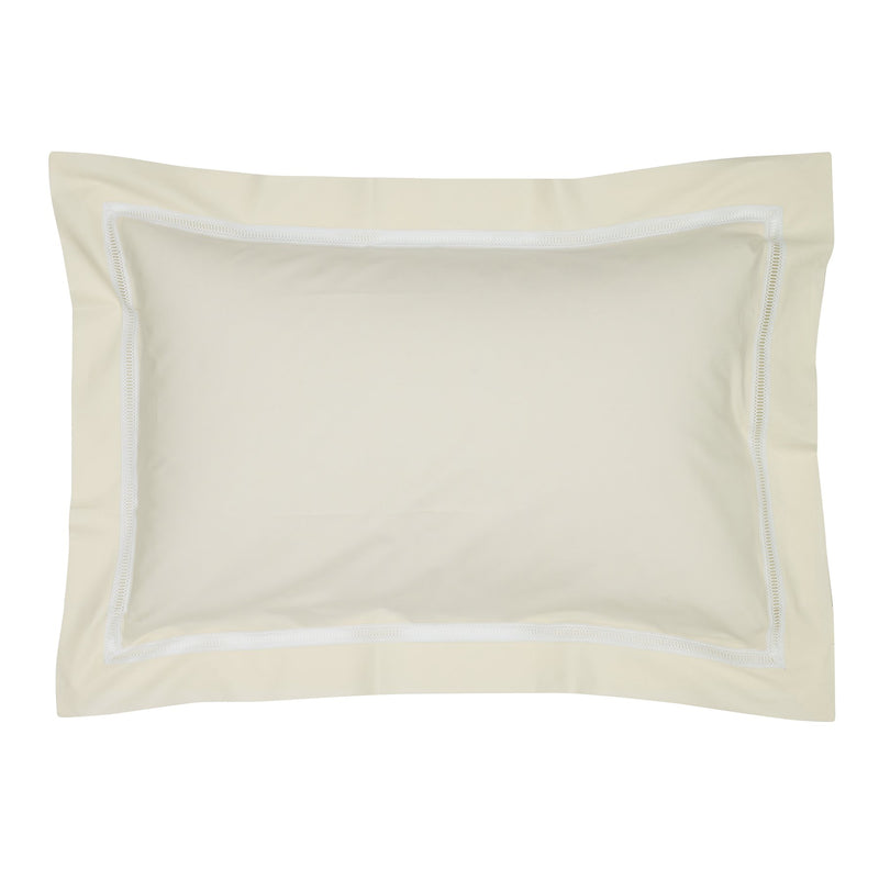 Graziano Notre Dame Egyptian Cotton Cream Oxford Pillowcase