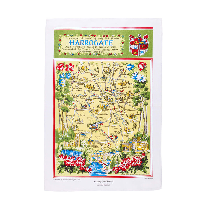 Harrogate District Limited Edition Linen Tea Towel