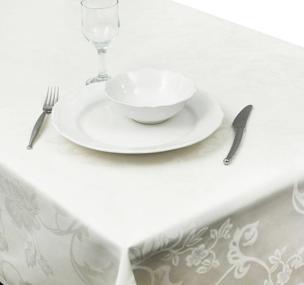 Juliette Damask Cotton Tablecloth Collection