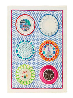 Limoges Blue Linen Tea Towel