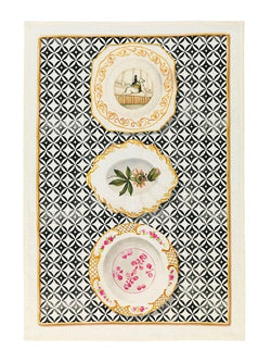 Limoges Nero Linen Tea Towel