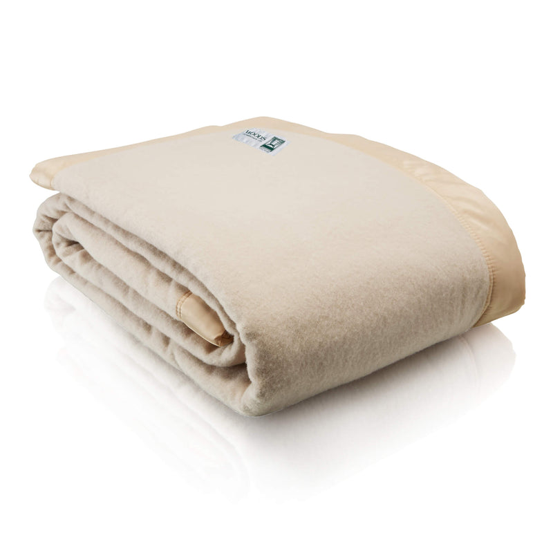 Merino Wool Champagne Luxury Blanket