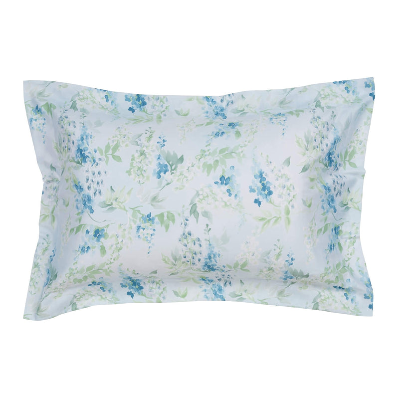 Woods Padova Egyptian Cotton Oxford Pillowcase Blue Floral