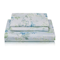 Woods Padova Egyptian Cotton Bed Linen Collection Blue Floral