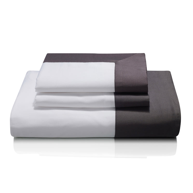Woods Cividale Egyptian Cotton Bed Linen Collection in Charcoal (Grisaglia)