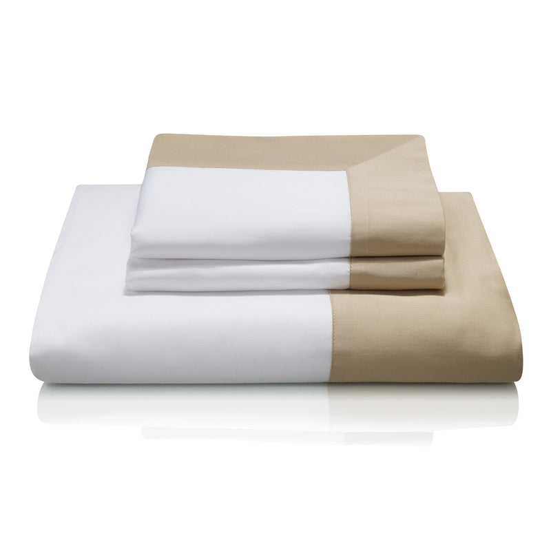 Cividale Luxury Bed Linen in Gold (Sempione) exclusive to Woods Fine Linens