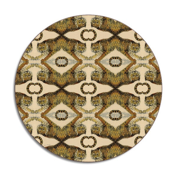 Avenida Home Tigers Design Round Placemats