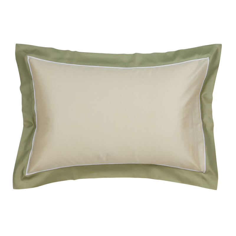 Woods San Danielle Egyptian Cotton Pale Green/White/Sage Oxford Pillowcase