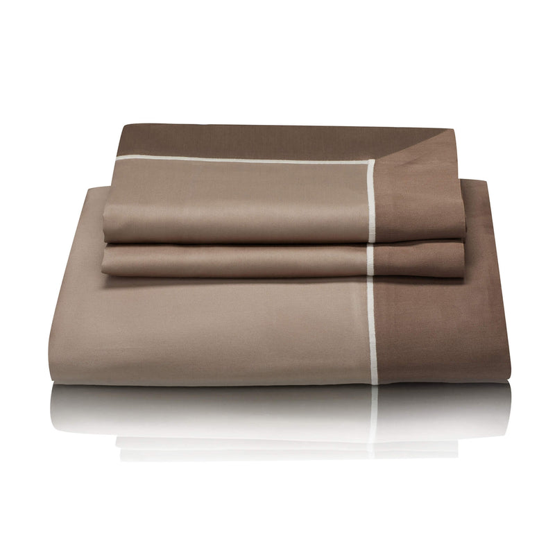 Woods San Danielle Egyptian Cotton Champagne Truffle/Ivory/Truffle Bed Linen Collection
