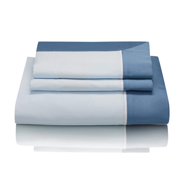Woods San Danielle Egyptian Cotton Ice Blue/White/Wedgewood Bed Linen Collection