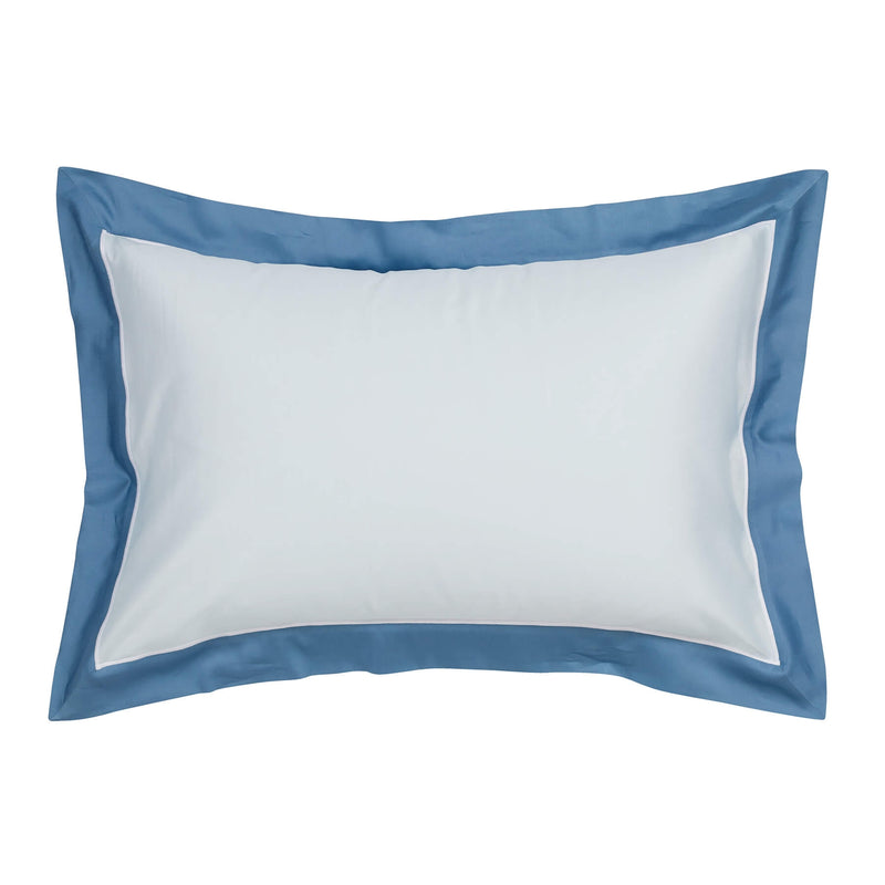 Woods San Danielle Egyptian Cotton Ice Blue/White/Wedgewood Blue Oxford Pillowcase