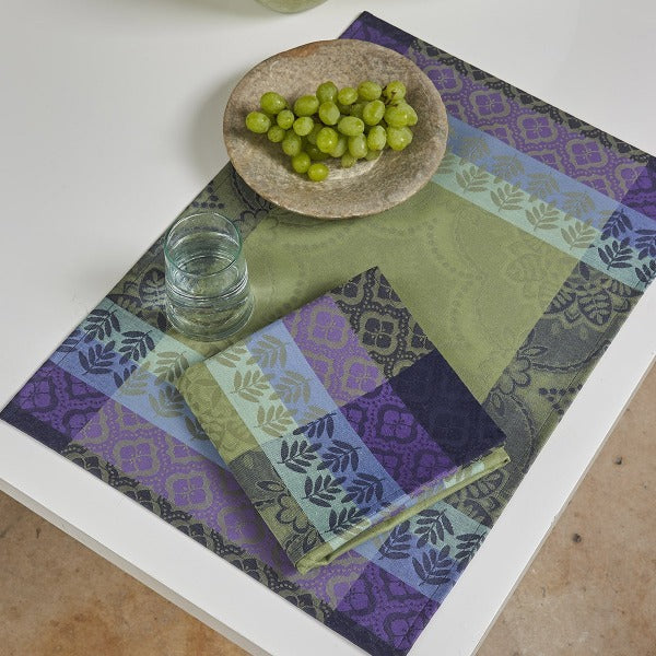 Bastide Cotton Napkin and Placemat - Colour Olive