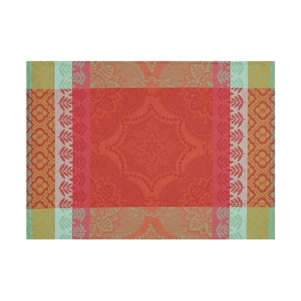 Bastide Cotton Placemat - Red Pepper colour