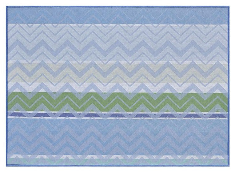 Colour Rock Coated Cotton Placemat Blue