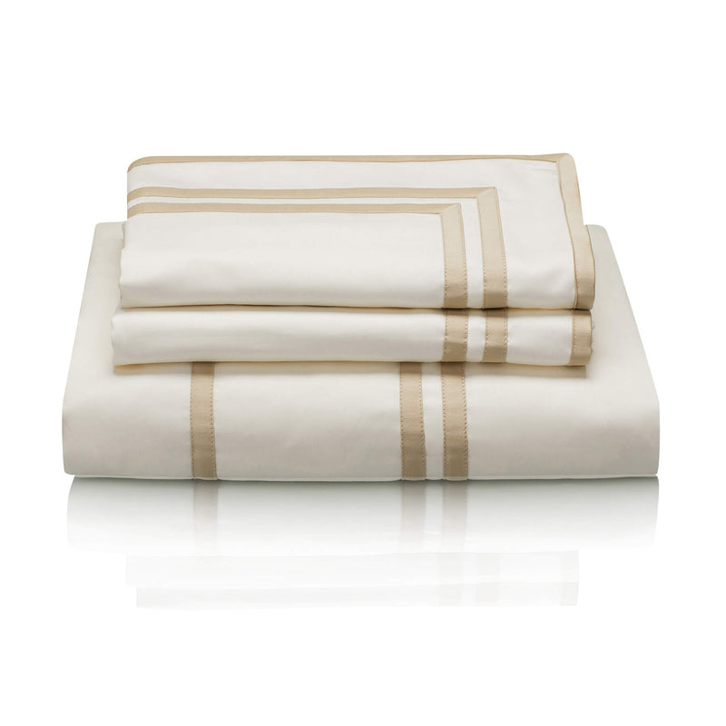 Woods Trieste Egyptian Cotton Bed Linen Collection Ivory/Beige