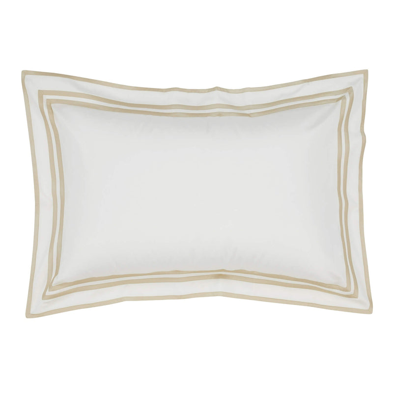 Woods Trieste Egyptian Cotton Oxford Pillowcase Ivory/Beige