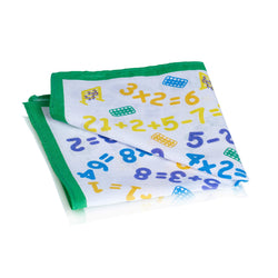 Numbers Design Cotton Green Border Children s Handkerchief