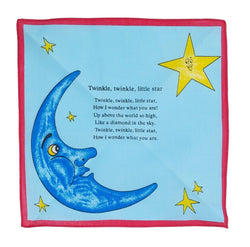 Twinkle Twinkle Little Star Cotton Blue Children s Handkerchief