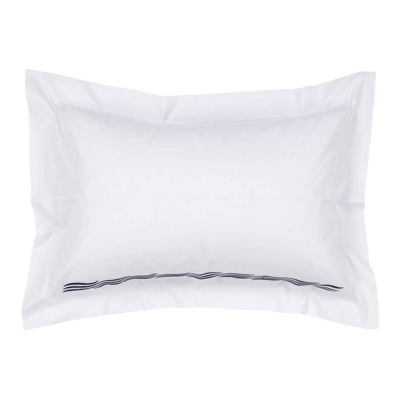 Woods Italian Classic Busetto Superfine Oxford Pillowcase Wave Design