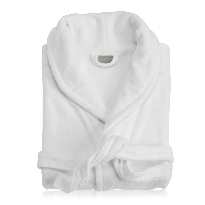 Woods Vincentia Egyptian Cotton Bath Robe White