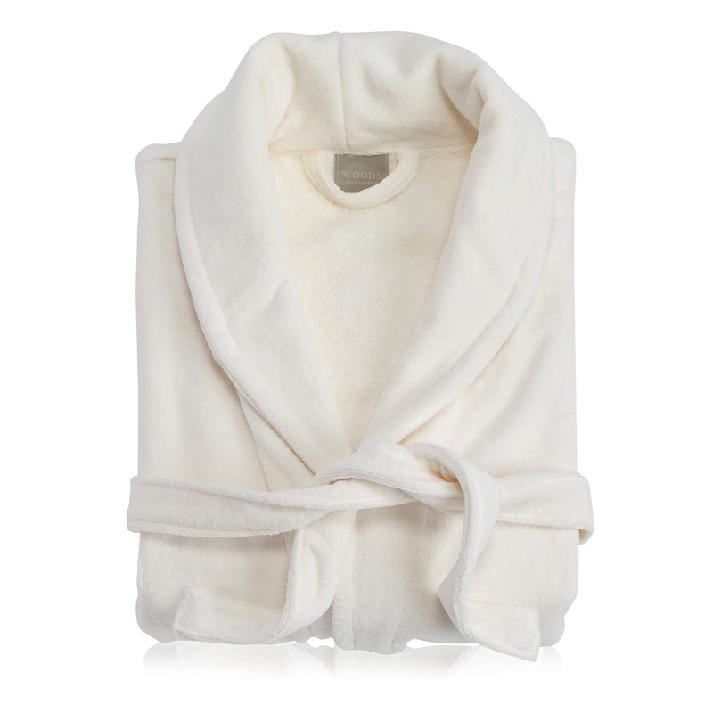 Woods Vincentia Egyptian Cotton Bath Robe Ivory