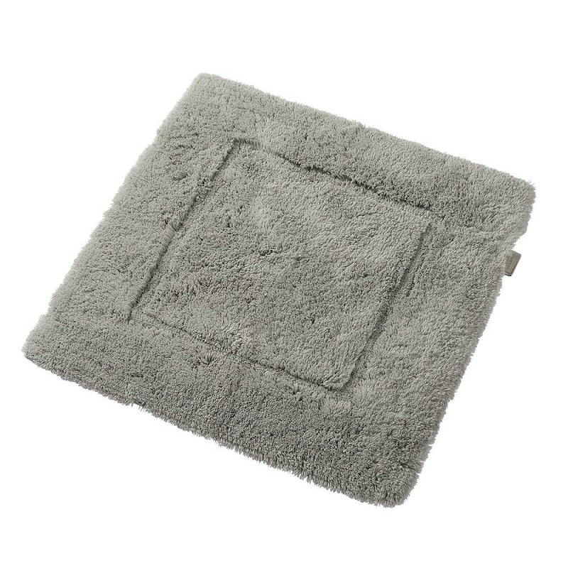 Woods Contessa Egyptian Cotton Shower Mat Silver Grey