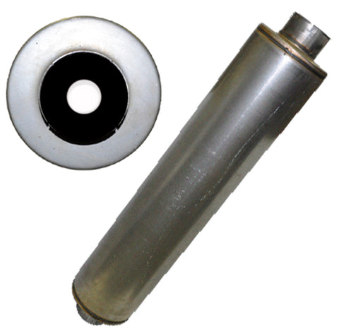 "Quiet Performance 5"" in 5"" out 10"" Diameter 51.5""L Muffler - Pittsburgh Power"
