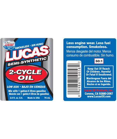 Lucas 2-Cycle Oil