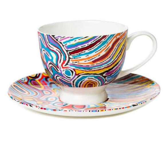 Judy Watson Teacup and Saucer