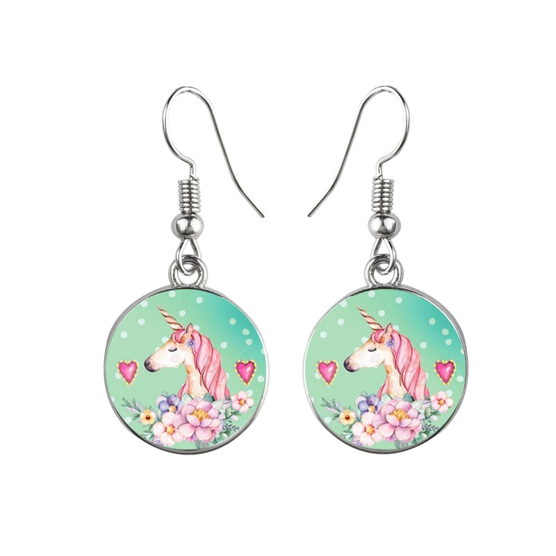 Retro Unicorn Earrings