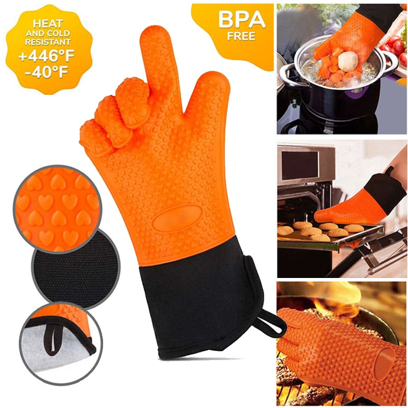 Thick Heat-Resistant Glove