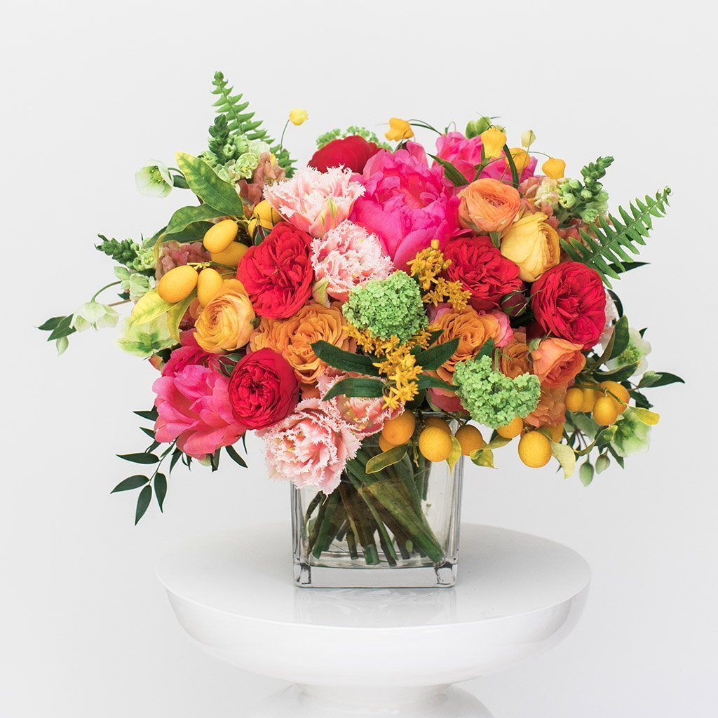Sunset garden bouquet example
