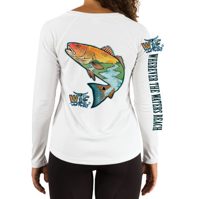 Redfish Oi Ladies V-Neck