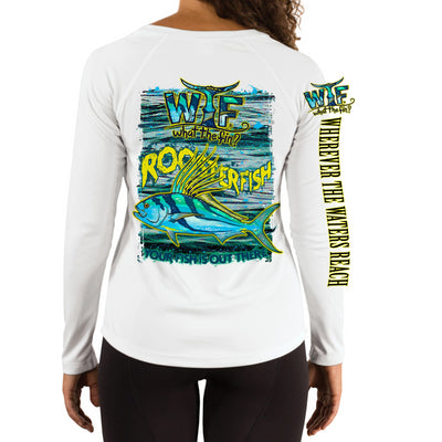 Roosterfish H2OH Ladies V-Neck Performance (Made to Order)
