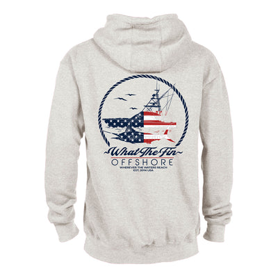 Offshore USA Oatmeal Hoodie