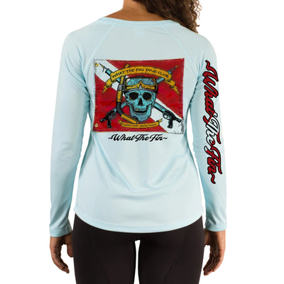 Spear Dive Flag Ladies V-Neck Performance