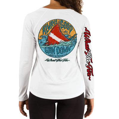 Dive Shark Ladies V-Neck Performance (Made to Order)