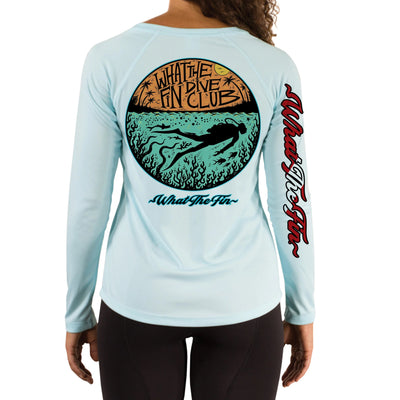 Fish Bowl Dive Ladies V-Neck Performance
