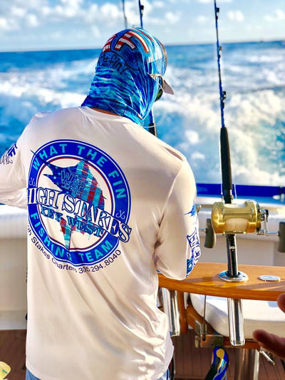 WTF Captains Collection / High Stakes Charters Unisex Performance  (Made to Order)
