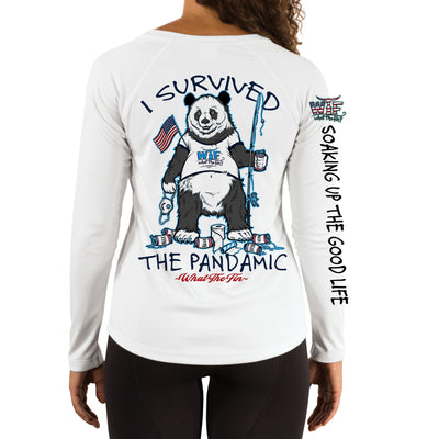 I Survived Pandamic Ladies V-Neck Performance (Made to Order)
