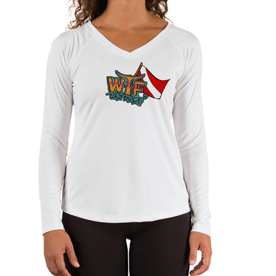 Pirate Dive Ladies V-Neck Performance