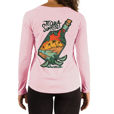 Tequila Sunrise Ladies V-Neck Performance (Made to Order)