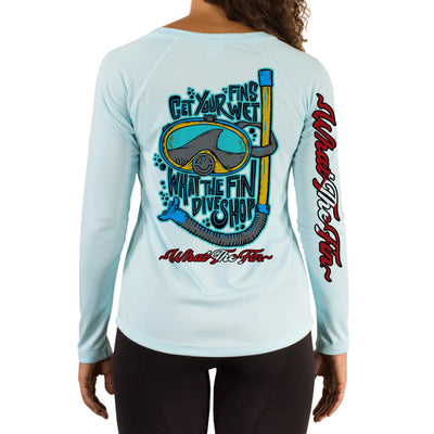 Fins Wet Ladies V-Neck Performance (Made to Order)