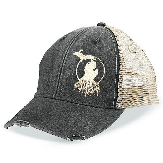 MI Roots - Vintage Weathered Trucker Cap