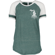 MI Roots - Ladies' Vintage Colorblock Tee