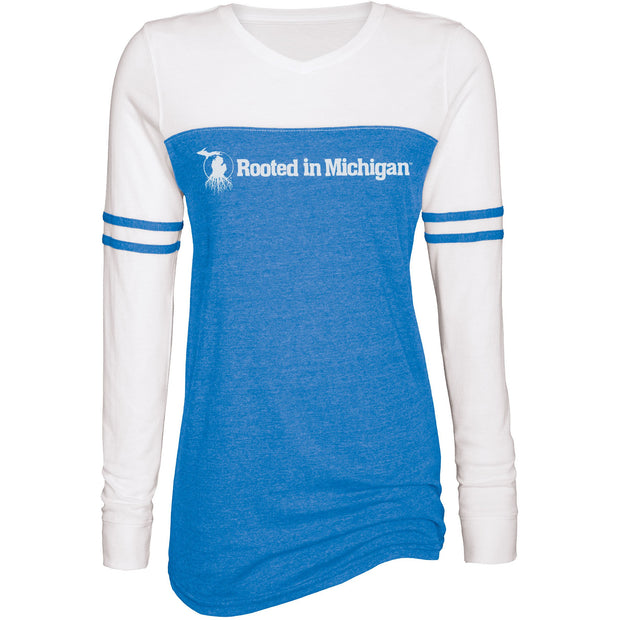 Rooted - Ladies Triblend Varsity Long Sleeve Tee