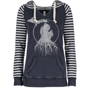 MI Roots - Ladies' Striped Hooded